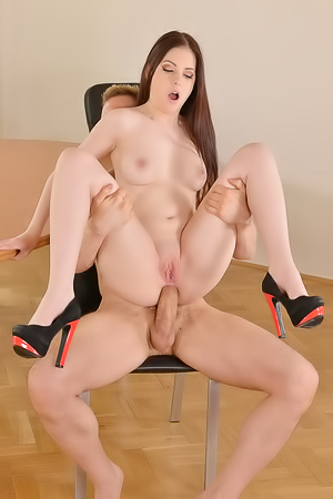 Brunette Teen Banged In Office