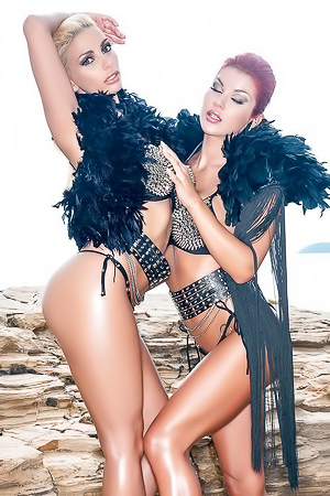 Hot Belgian International models Stefania & Vienna