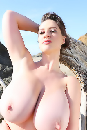 Lana Kendrick Getting Naked On The Beach