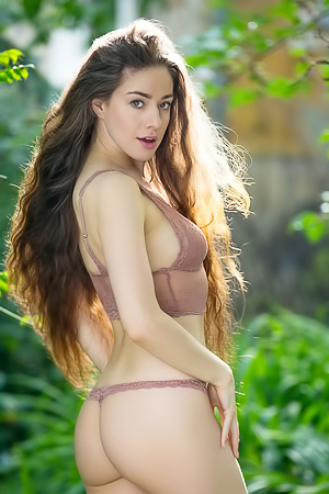 Joy Draiki Shows Off Her Trimmed Pussy For Playboy